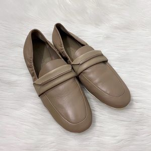Mercedes Castillo Taupe Leather Erin Flats Loafers